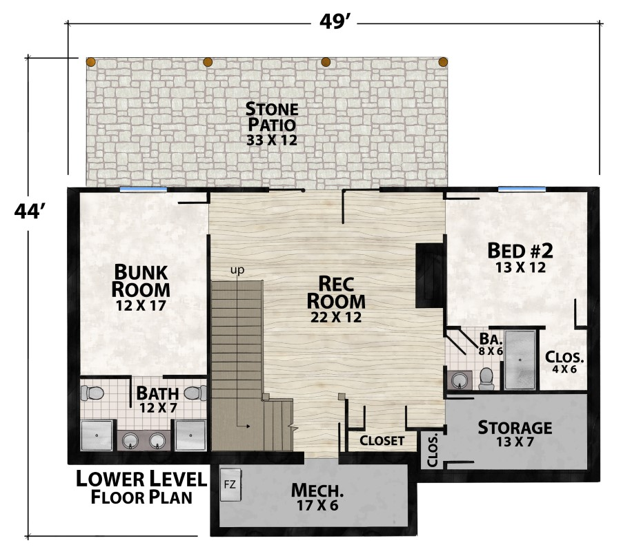 Bunk house plan details natural element homes Bunkhouse floor plans
