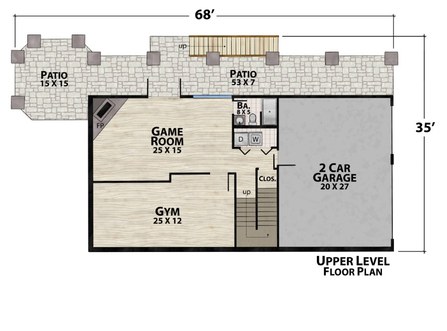 Lucky man lodge plan details natural element homes for Lucky 4 ranch floor plan