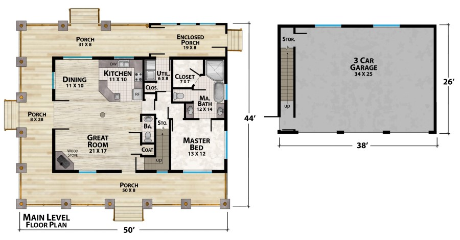 Mountain View Lodge 3 Plan Details Natural Element Homes