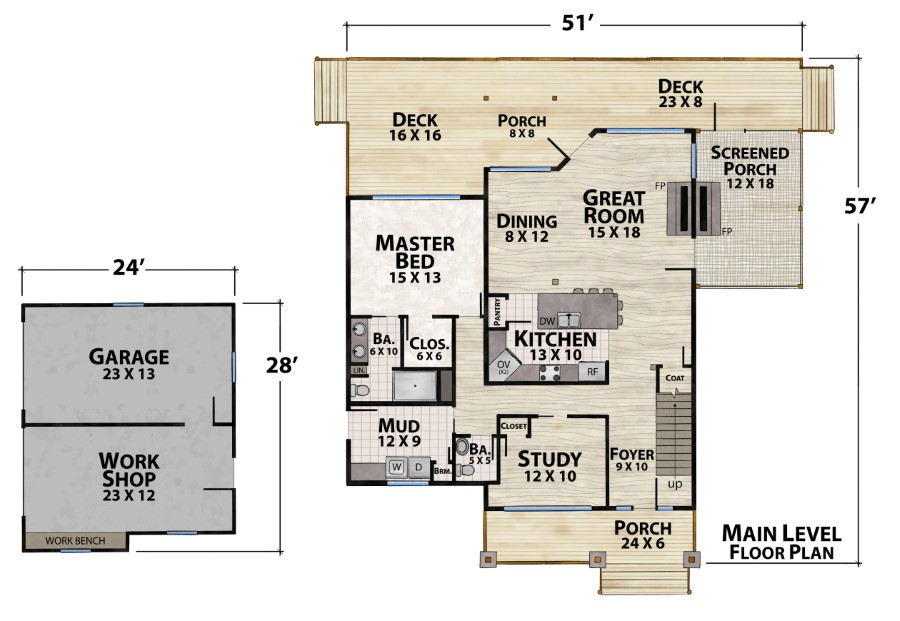 Rum Runner Camp Plan Details Natural Element Homes