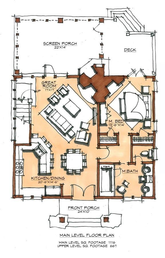 Skillet Camp Plan Details Natural Element Homes
