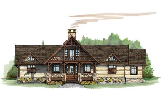 Bean Station Lodge - Natural Element Homes