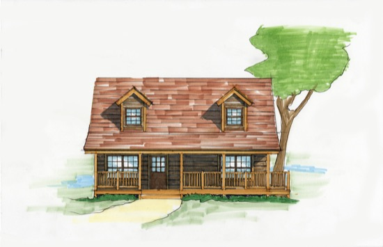 Huck finn camp plan details natural element homes for Fish camp house plans