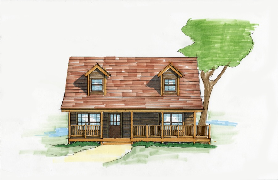 Fish camp plan details natural element homes for Fish camp house plans