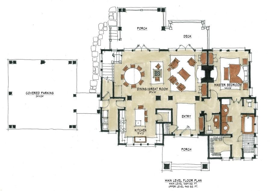 Laurel cottage plan details natural element homes The laurels floor plan