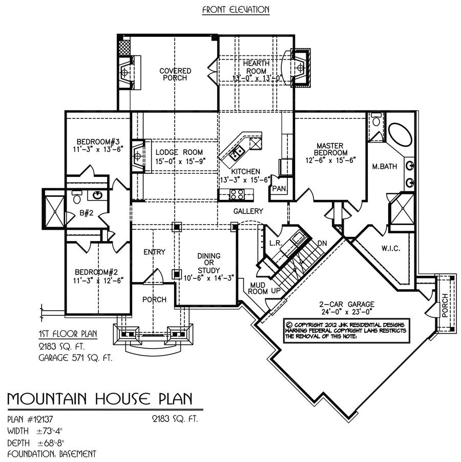 Mountain house plan details natural element homes for Mountain house floor plans
