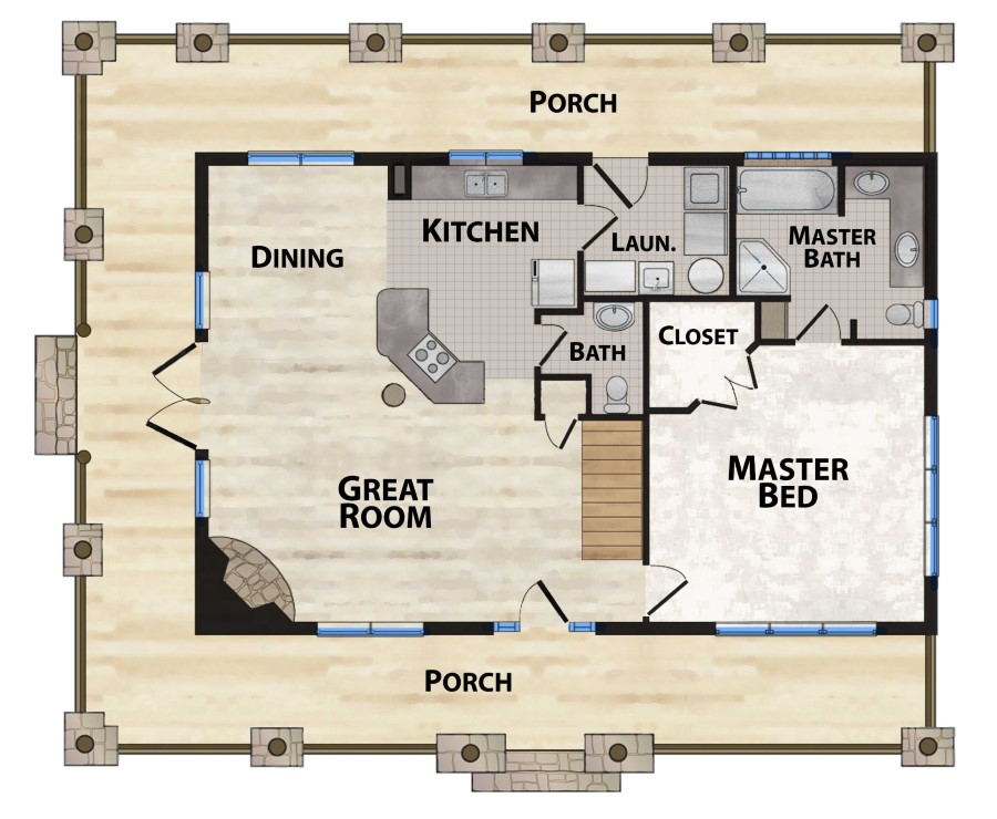 Mountain View Lodge 2 Plan Details Natural Element Homes