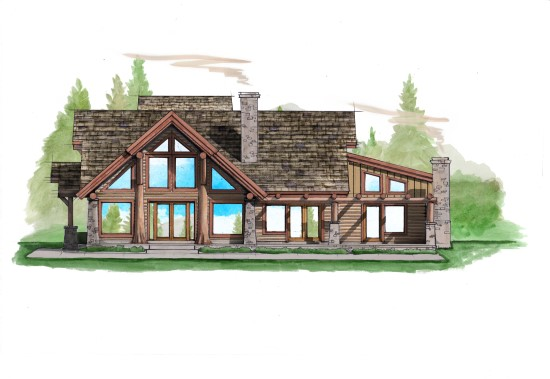 Overlook Retreat - Natural Element Homes