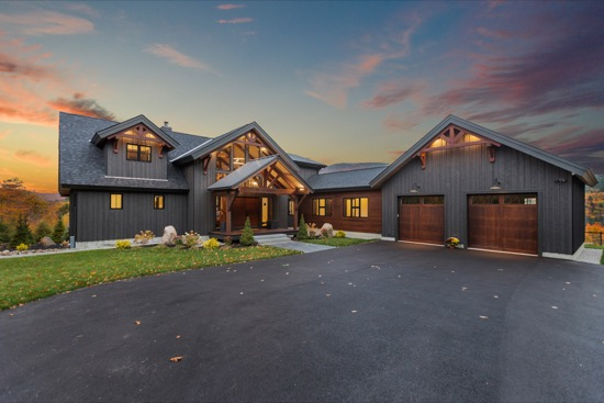 Pear Mountain Lodge - Natural Element Homes