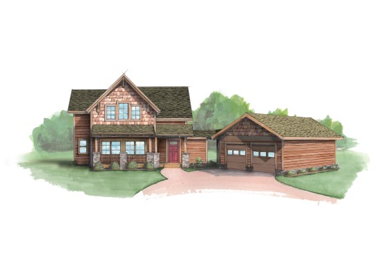 Redtail Mountain Camp - Natural Element Homes