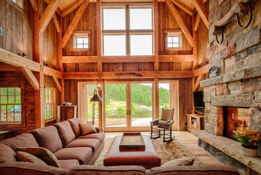 timber frame home interiors rocky mountain retreat plan details element homes 22337