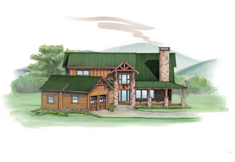 Stone Mountain Lodge Plan Details Natural Element Homes