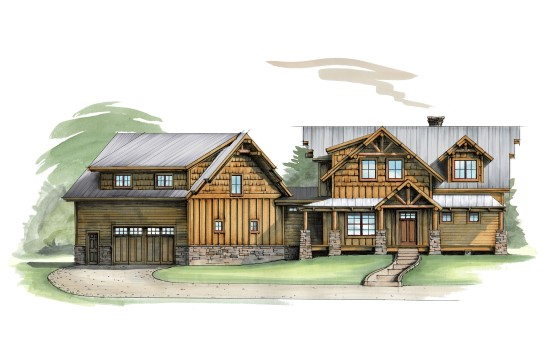 Wild Turkey Lodge - Natural Element Homes