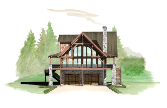 Wolf Pack Lodge - Natural Element Homes