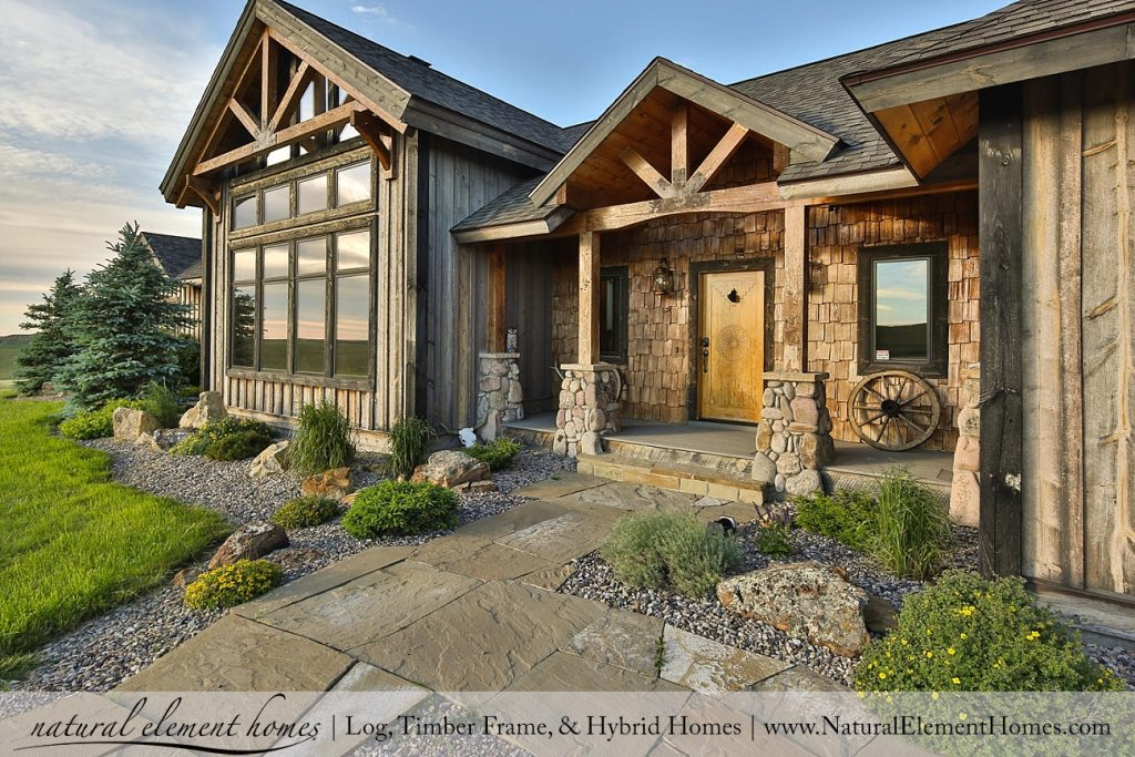 Montana ranch recap natural element homes for Timber frame ranch home plans
